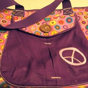 Love, Peace, And Buttons Bag